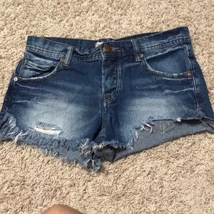 Free people denim cutoffs